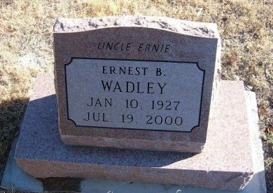 WADLEY, ERNEST B - Bent County, Colorado   ERNEST B WADLEY - Colorado Gravestone Photos