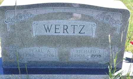 WERTZ, RICHARD J - Bent County, Colorado | RICHARD J WERTZ - Colorado Gravestone Photos