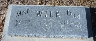 "WILK, RALPH ""SHORTY"" - Bent County, Colorado   RALPH ""SHORTY"" WILK - Colorado Gravestone Photos"