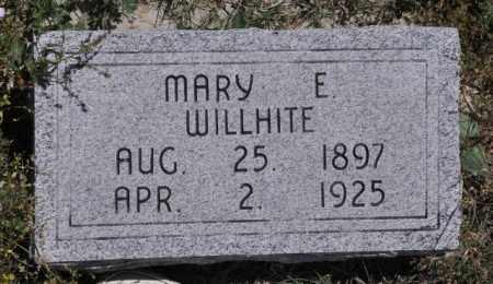 WILLHITE, MARY E - Bent County, Colorado | MARY E WILLHITE - Colorado Gravestone Photos