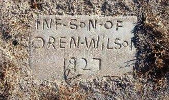 WILSON, INFANT SON - Bent County, Colorado | INFANT SON WILSON - Colorado Gravestone Photos