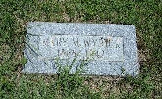 WYRICK, MARY M - Bent County, Colorado | MARY M WYRICK - Colorado Gravestone Photos