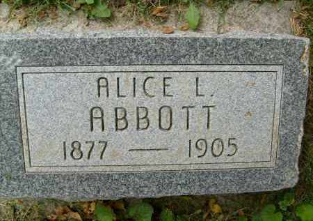 ABBOTT, ALICE L. - Boulder County, Colorado | ALICE L. ABBOTT - Colorado Gravestone Photos
