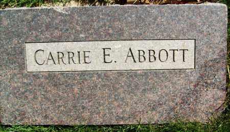 ABBOTT, CARRIE E. - Boulder County, Colorado   CARRIE E. ABBOTT - Colorado Gravestone Photos