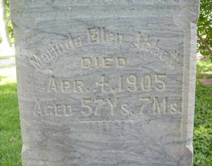 ABBOTT, MARINDA ELLEN - Boulder County, Colorado   MARINDA ELLEN ABBOTT - Colorado Gravestone Photos