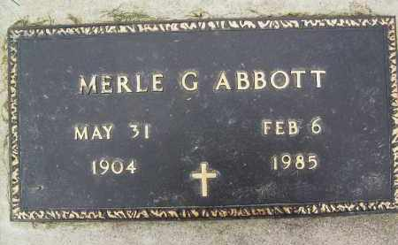 ABBOTT, MERLE G. - Boulder County, Colorado | MERLE G. ABBOTT - Colorado Gravestone Photos