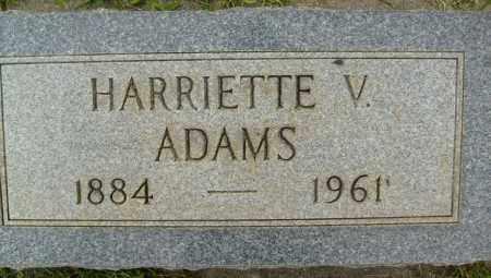 ADAMS, HARRIETTE V. - Boulder County, Colorado   HARRIETTE V. ADAMS - Colorado Gravestone Photos