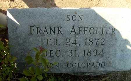 AFFOLTER, FRANK - Boulder County, Colorado   FRANK AFFOLTER - Colorado Gravestone Photos