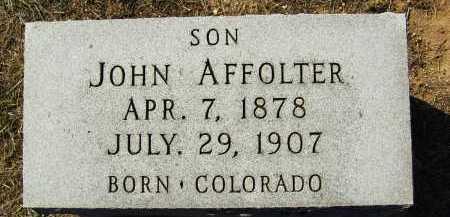 AFFOLTER, JOHN - Boulder County, Colorado | JOHN AFFOLTER - Colorado Gravestone Photos