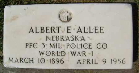 ALLEE, ALBERT E. - Boulder County, Colorado | ALBERT E. ALLEE - Colorado Gravestone Photos