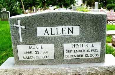 ALLEN, PHYLLIS J. - Boulder County, Colorado | PHYLLIS J. ALLEN - Colorado Gravestone Photos