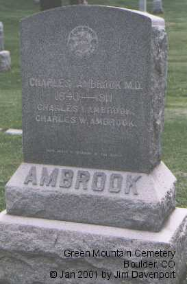 AMBROOK, CHARLES W. - Boulder County, Colorado | CHARLES W. AMBROOK - Colorado Gravestone Photos