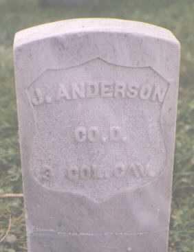 ANDERSON, J. - Boulder County, Colorado | J. ANDERSON - Colorado Gravestone Photos