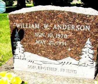 ANDERSON, WILLIAM W. - Boulder County, Colorado | WILLIAM W. ANDERSON - Colorado Gravestone Photos