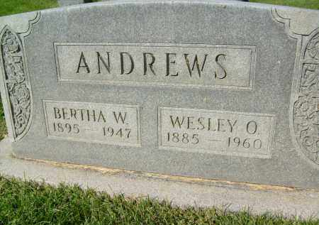 ANDREWS, WESLEY O. - Boulder County, Colorado | WESLEY O. ANDREWS - Colorado Gravestone Photos