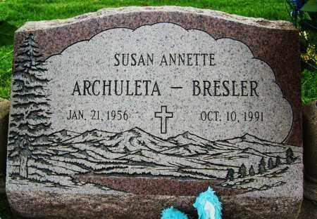 ARCHULETA-BRESLER, SUSAN ANNETTE - Boulder County, Colorado | SUSAN ANNETTE ARCHULETA-BRESLER - Colorado Gravestone Photos