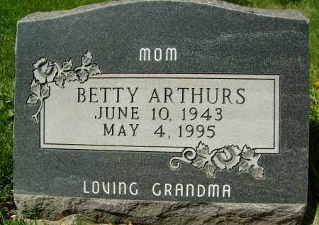 ARTHURS, BETTY - Boulder County, Colorado | BETTY ARTHURS - Colorado Gravestone Photos