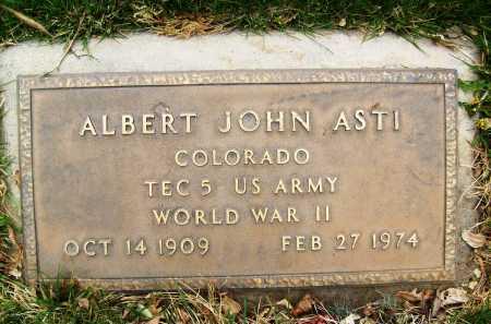 ASTI, ALBERT JOHN - Boulder County, Colorado | ALBERT JOHN ASTI - Colorado Gravestone Photos