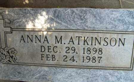 ATKINSON, ANNA M. - Boulder County, Colorado | ANNA M. ATKINSON - Colorado Gravestone Photos