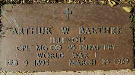 BAETHKE, ARTHUR W. - Boulder County, Colorado   ARTHUR W. BAETHKE - Colorado Gravestone Photos
