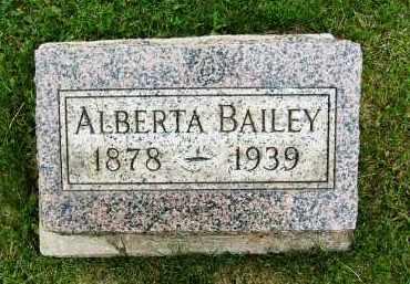 BAILEY, ALBERTA - Boulder County, Colorado | ALBERTA BAILEY - Colorado Gravestone Photos