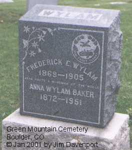 BAKER, ANNA WYLAM - Boulder County, Colorado | ANNA WYLAM BAKER - Colorado Gravestone Photos