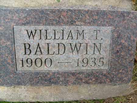 BALDWIN, WILLIAM T. - Boulder County, Colorado | WILLIAM T. BALDWIN - Colorado Gravestone Photos