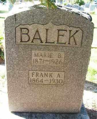 BALEK, FRANK A. - Boulder County, Colorado | FRANK A. BALEK - Colorado Gravestone Photos