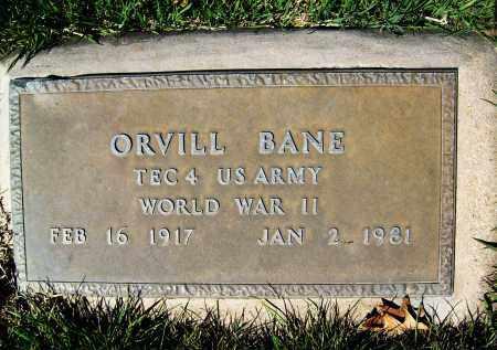 BANE, ORVILL - Boulder County, Colorado | ORVILL BANE - Colorado Gravestone Photos