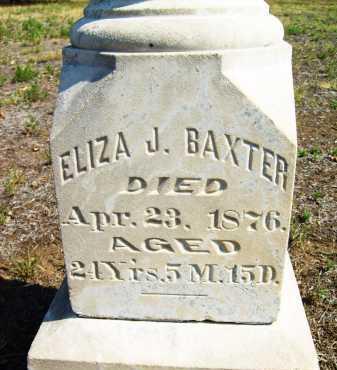 BAXTER, ELIZA J. - Boulder County, Colorado   ELIZA J. BAXTER - Colorado Gravestone Photos