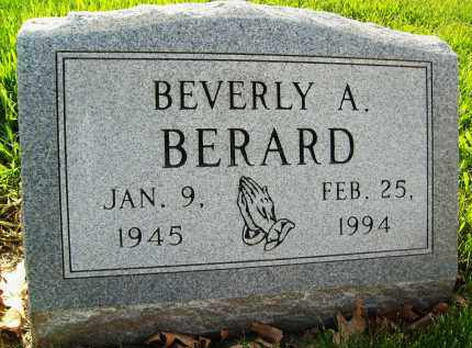 BERARD, BEVERLY A. - Boulder County, Colorado | BEVERLY A. BERARD - Colorado Gravestone Photos