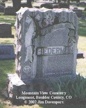 BIEDERMAN, FRED - Boulder County, Colorado   FRED BIEDERMAN - Colorado Gravestone Photos