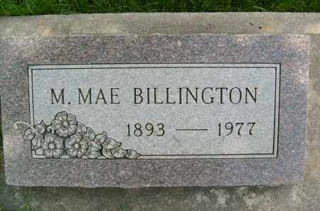 BILLINGTON, M. MAE - Boulder County, Colorado | M. MAE BILLINGTON - Colorado Gravestone Photos