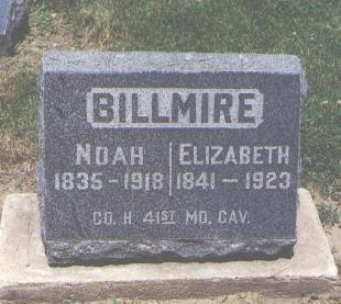 BILLMIRE, ELIZABETH - Boulder County, Colorado | ELIZABETH BILLMIRE - Colorado Gravestone Photos