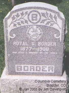 BORDER, ROYAL S. - Boulder County, Colorado   ROYAL S. BORDER - Colorado Gravestone Photos