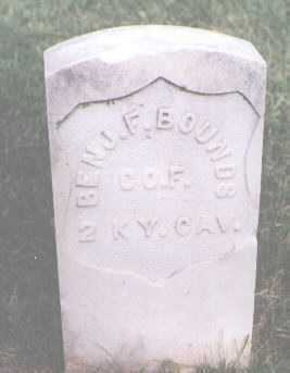 BOUNDS, BENJAMIN F. - Boulder County, Colorado | BENJAMIN F. BOUNDS - Colorado Gravestone Photos