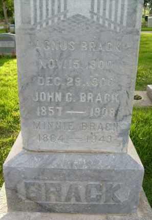 BRACK, MINNIE - Boulder County, Colorado | MINNIE BRACK - Colorado Gravestone Photos