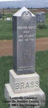 BRASS, MINERVA - Boulder County, Colorado   MINERVA BRASS - Colorado Gravestone Photos