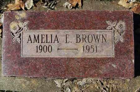 BROWN, AMELIA E. - Boulder County, Colorado | AMELIA E. BROWN - Colorado Gravestone Photos