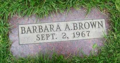 BROWN, BARBARA A. - Boulder County, Colorado | BARBARA A. BROWN - Colorado Gravestone Photos