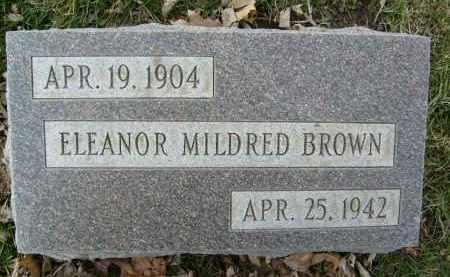 BROWN, ELEANOR MILDRED - Boulder County, Colorado | ELEANOR MILDRED BROWN - Colorado Gravestone Photos