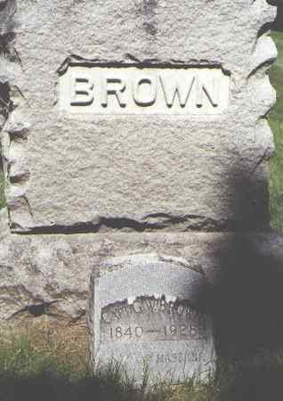 BROWN, G. W. - Boulder County, Colorado | G. W. BROWN - Colorado Gravestone Photos