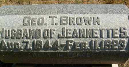 BROWN, GEORGE T. - Boulder County, Colorado | GEORGE T. BROWN - Colorado Gravestone Photos