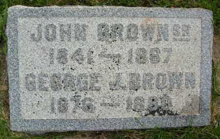 BROWN, GEORGE J. - Boulder County, Colorado | GEORGE J. BROWN - Colorado Gravestone Photos