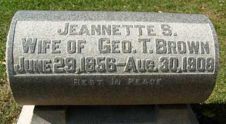 BROWN, JEANNETTE S. - Boulder County, Colorado | JEANNETTE S. BROWN - Colorado Gravestone Photos