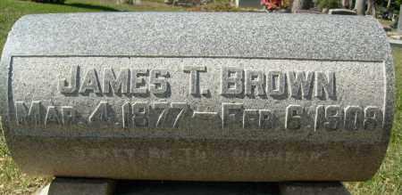 BROWN, JAMES T. - Boulder County, Colorado | JAMES T. BROWN - Colorado Gravestone Photos