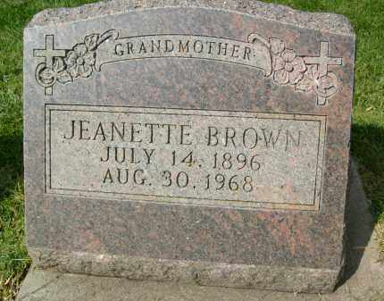 BROWN, JEANETTE - Boulder County, Colorado | JEANETTE BROWN - Colorado Gravestone Photos