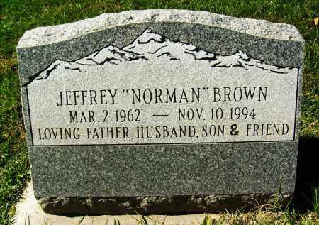 """BROWN, JEFFREY """"NORMAN"""" - Boulder County, Colorado   JEFFREY """"NORMAN"""" BROWN - Colorado Gravestone Photos"""