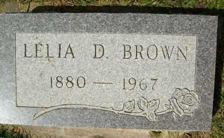 BROWN, LELIA D. - Boulder County, Colorado | LELIA D. BROWN - Colorado Gravestone Photos