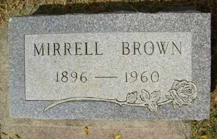 BROWN, MIRRELL - Boulder County, Colorado | MIRRELL BROWN - Colorado Gravestone Photos